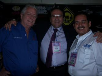 Luis Endara from Orban, Moisés Martini from Media 5, and Miguel Rivera from Staco Energy